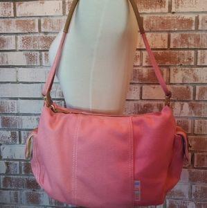 Fossil Pink Canvas Shoulder Bag